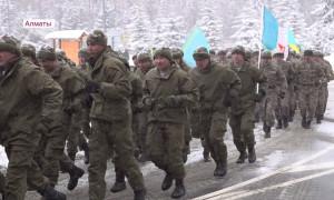 Алматинские военнослужащие приняли участие в забеге по случаю 30-летия Независимости Казахстана