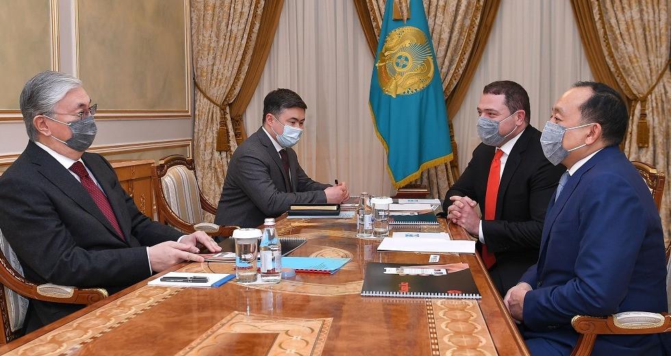 Мемлекет басшысы Kaspi.kz компаниясының негізін қалаушыларды қабылдады