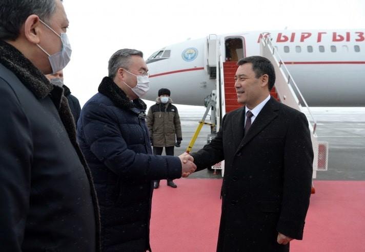 Президент Кыргызстана прибыл в Казахстан с государственным визитом
