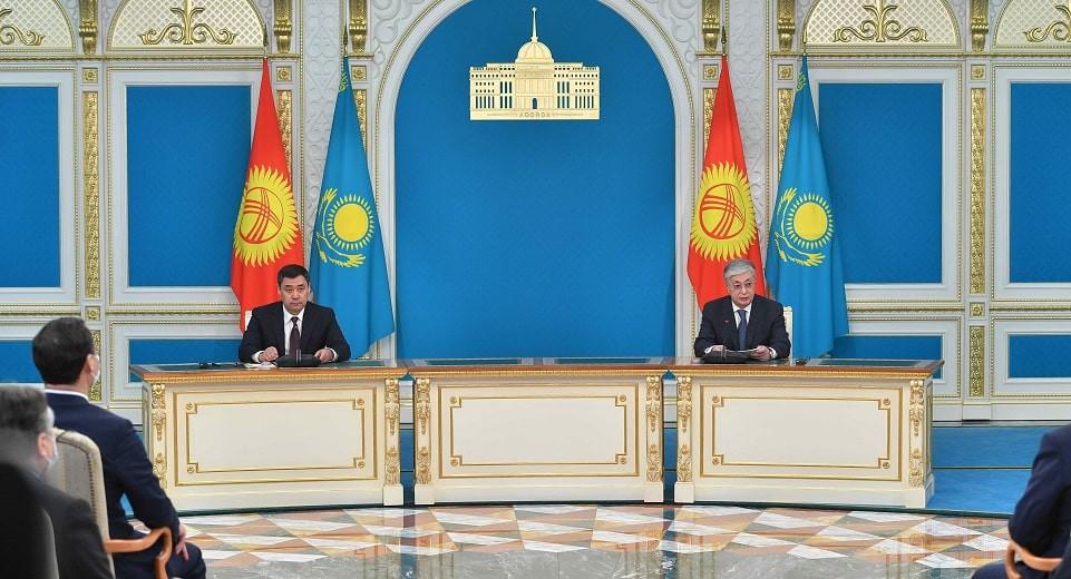 Брифинг для СМИ провели президенты Кыргызстана и Казахстана