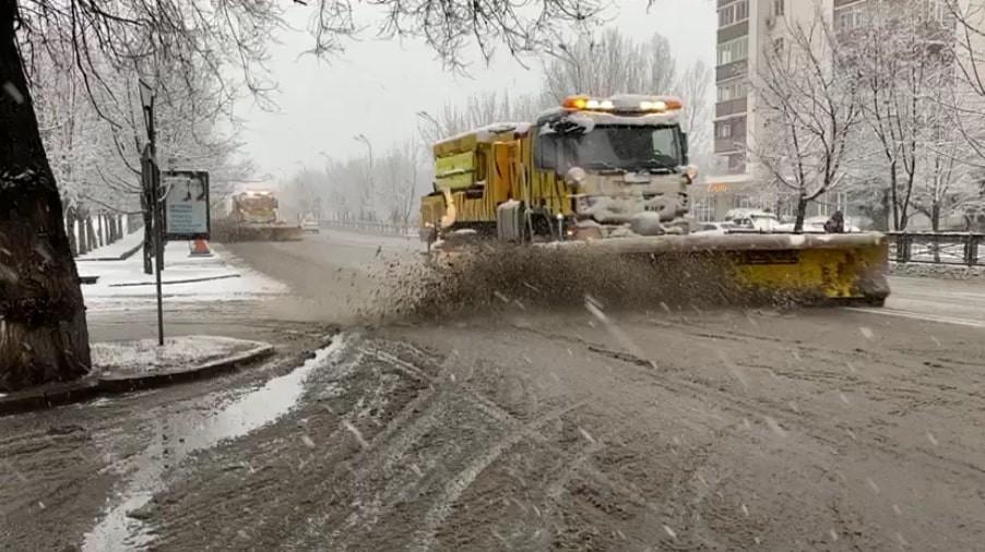 Информация по уборке снега в Алматы 5 марта 2021 года