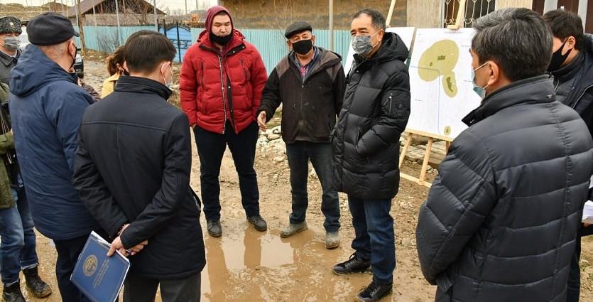 Б. Сагинтаев проверил ход строительства инженерных сетей и социальных объектов в новых микрорайонах