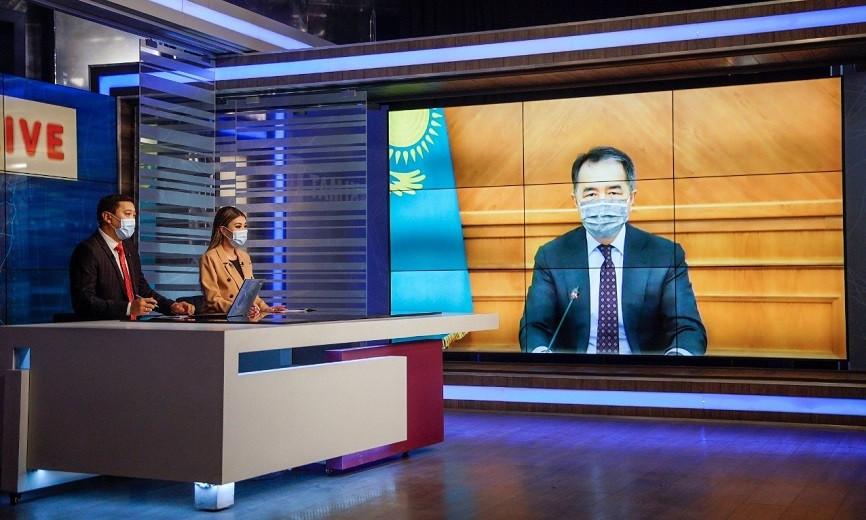 Алматыдағы эпидахуал: Бақытжан Сағынтаев Akimat LIVE бағдарламасының тікелей эфирінде