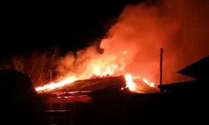 Горящий монастырь в Павлодарской области попал на видео