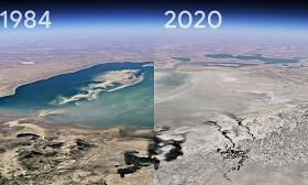 О, человечество: в Google Earth показали, как высыхало Аральское море, таяли ледники Аляски и разрастались города