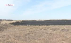 Крупный пожар произошел в Нур-Султане
