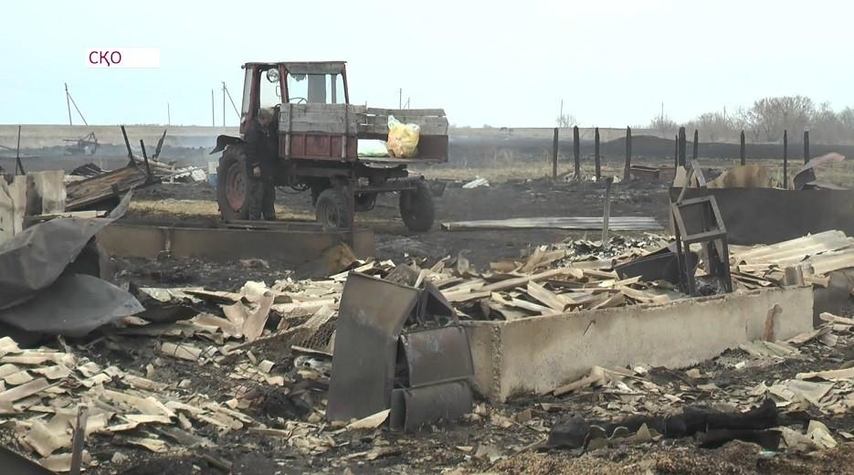 Крупный пожар в СКО: документы и имущество людей сгорели