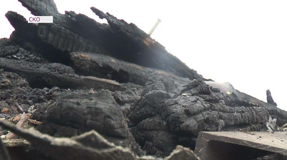 Названа причина крупного пожара в СКО