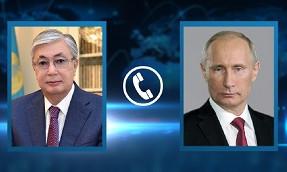 Президенты Казахстана и России поговорили по телефону