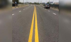 В новом цвете: на дорогах Алматинской области впервые появилась желтая разметка