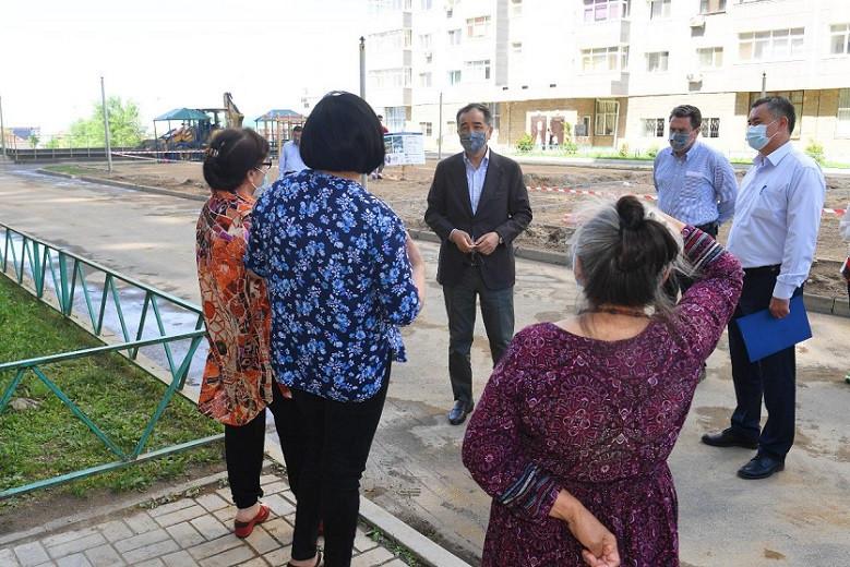 Б. Сагинтаев ознакомился с ходом инфраструктурного развития Ауэзовского района