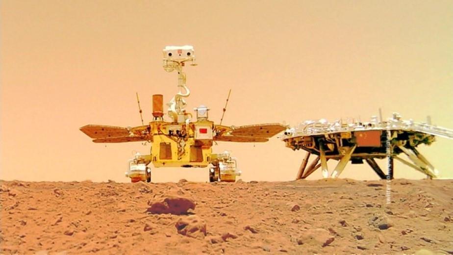 Флаг Китая установили на поверхности Марса