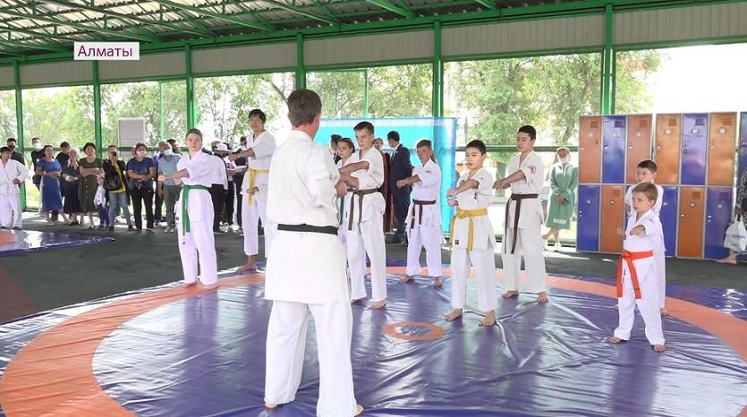 Спортивную площадку открыли в Алатауском районе Алматы