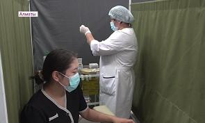 Алматыда өткен тәулікте 5 мың 802 адам вакцина салдырған