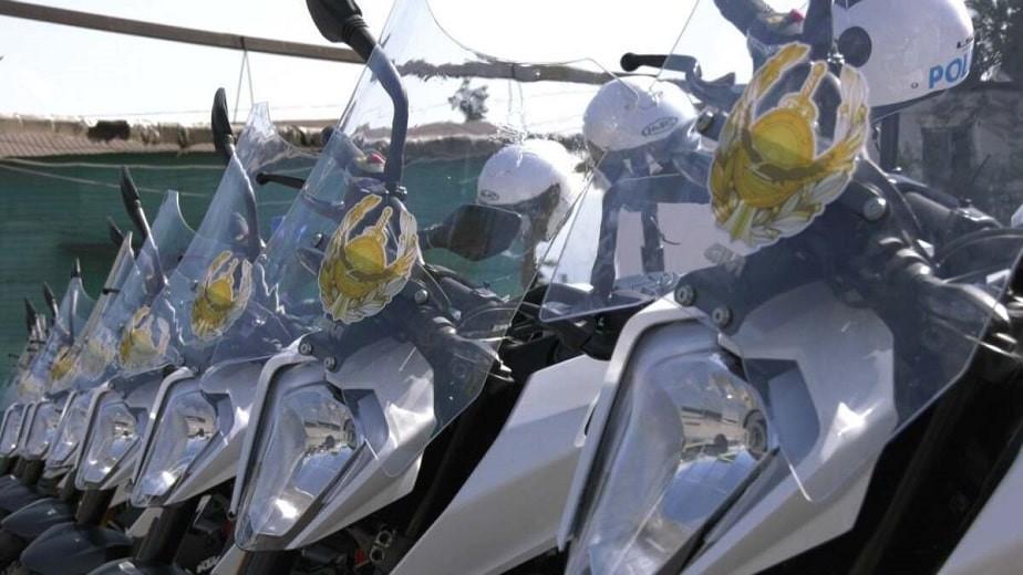 Алматыда полиция қызметкерлеріне мотокөлік берілді