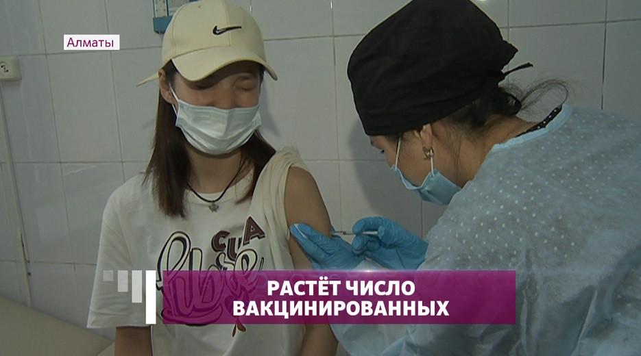 Студенты Алматы массово вакцинируются от COVID-19
