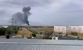 Склад горел в Алматинской области