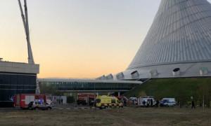 """Пожар в здании """"Казахмыса"""" потушили в столице"""
