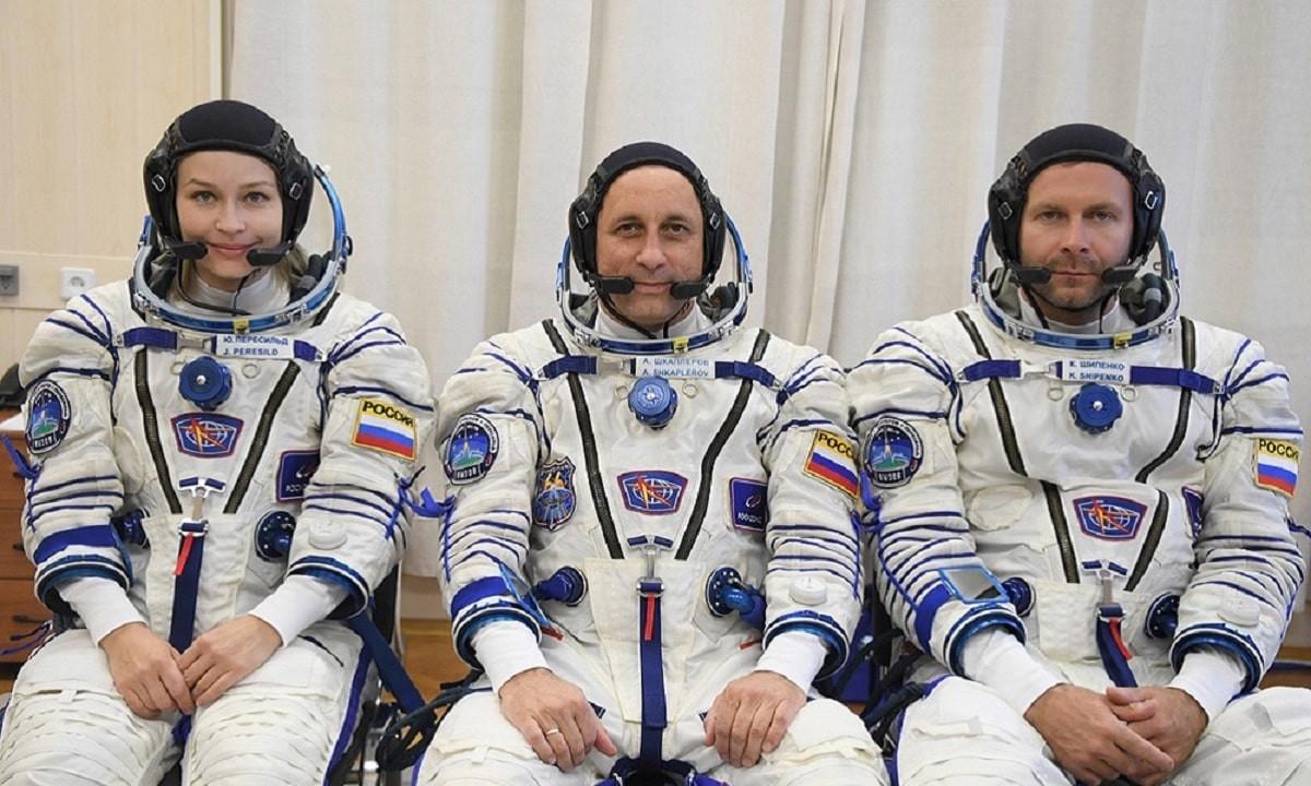 Космический фильм: первый в истории киноэкипаж вылетел с Байконура