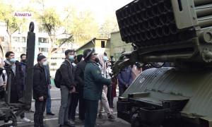 Учения состоялись на базе военного института КазНИТУ имени Каныша Сатпаева